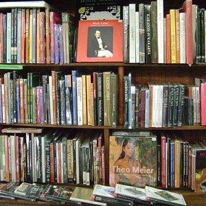 The Bookshelves in Ganesha Bookshop, Ubud. Bali