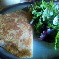 Crepe lunch with salad