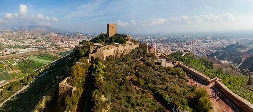 Panorámica desde la Torre del Espolón en el castillo de Lorca