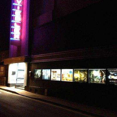 Exterior night time shot of Regal Movieplex, Cromer.