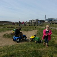 Tractor riding for kids