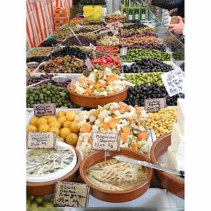 The Olive Man's stall (hint - grilled pistachios)