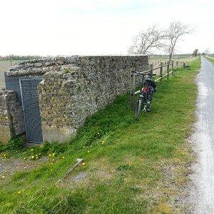 A bunker along the bike trail