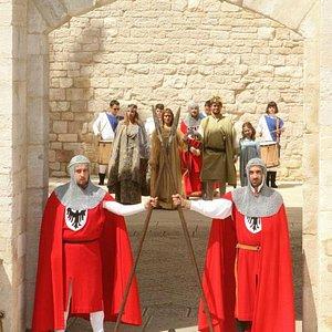 Figuranti nel Castello Federiciano