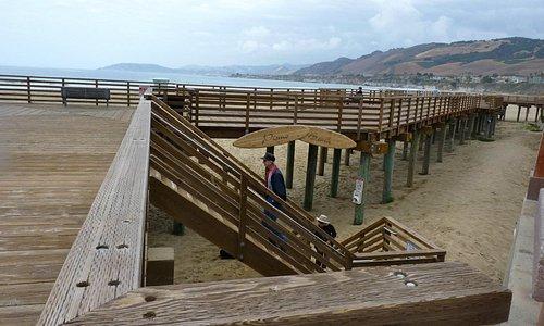 Pismo pier staircase to beach