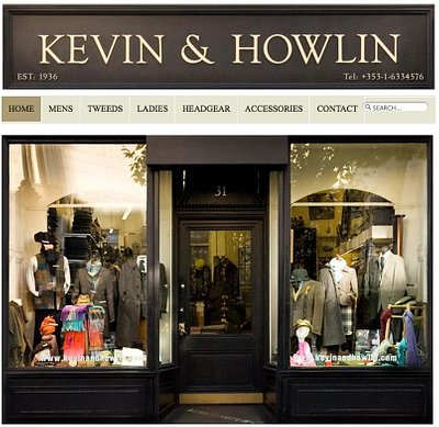 Kevin & Howlin store front on Nassau Street, Dublin