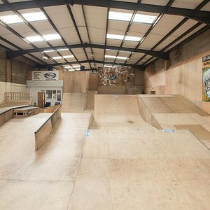 ATB Skate Warehouse is a boutique park - with tons of cool graffiti artwork