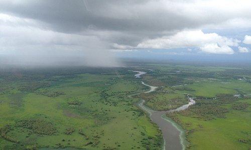 Wet season storms over the floodplain
