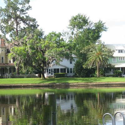 Historic Homes facing Spring Bayou