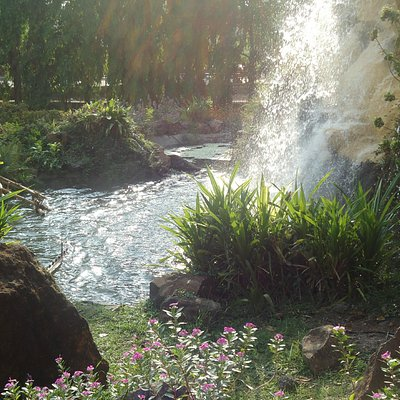 Artificial waterfalls at Hirwa Van Gardens