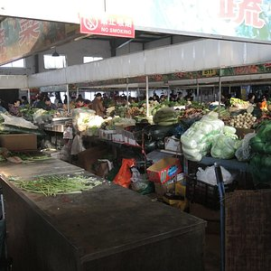 Produce at the local food market