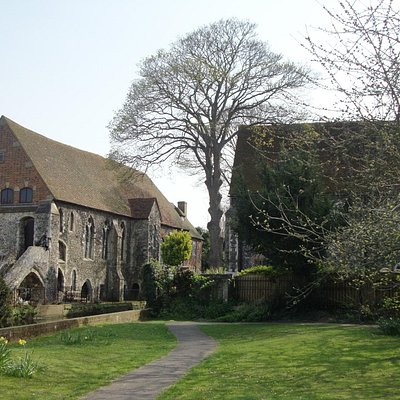 Solly's Orchard, Canterbury - view of the Dominican Priory