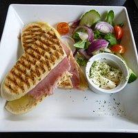 Cheddar Cheese & Ham panini