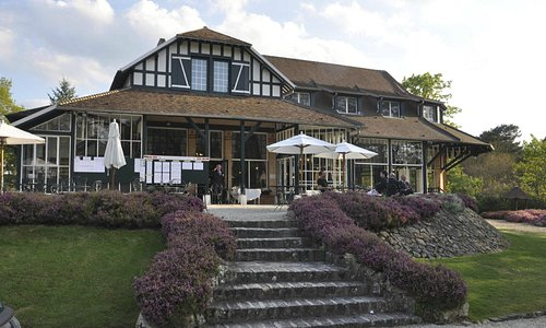 The Norman style clubhouse