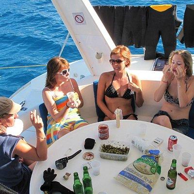 Relax aboard Captain Vincent Catamaran