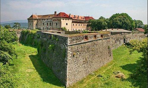 Вид на Ужгородский замок с улицы