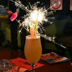Cocktail with sparkler!
