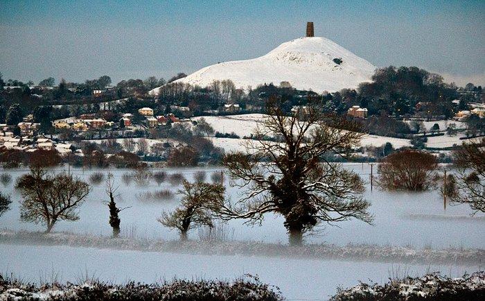 Glastonbury Tor In Winter