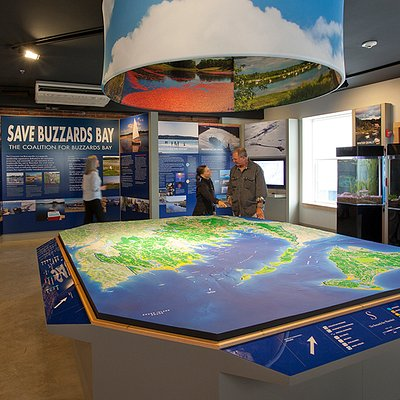 Explore Buzzards Bay with our large three-dimensional map of the region.