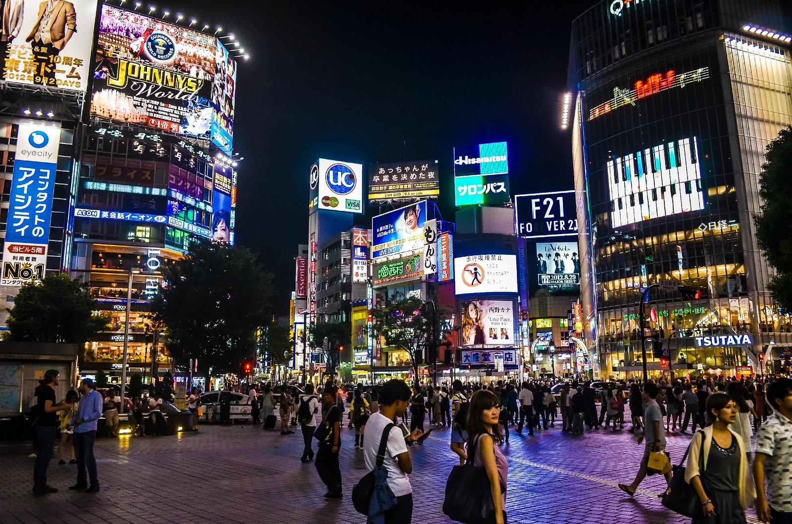 Shibuya Crossing in its glory days.