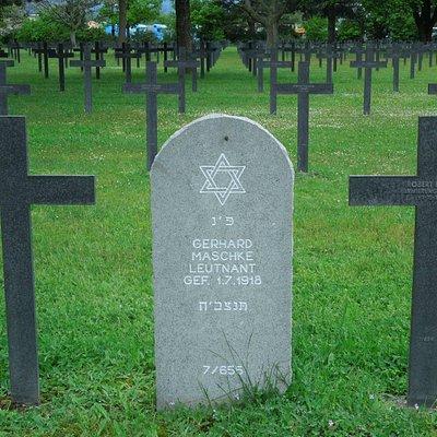 Grabstein eines Offiziers Jüdischen Glaubens