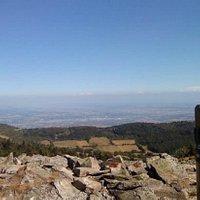 vue sur les Alpes depuis les hauteurs du Pilat
