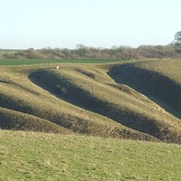 The deep folds in the hillside making for a difficult assault