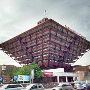 A pyramid upside down
