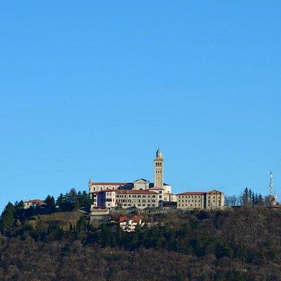 Sveta Gora, vom Monte Sabotino aus gesehen