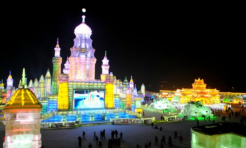 Shiny Ice and Snow World in Harbin