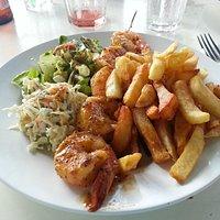 Absolutely amazing shrimp & fries