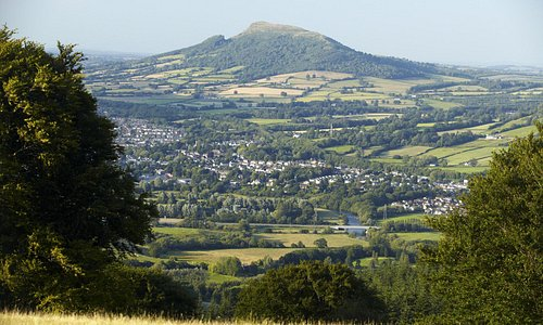 Looking over Abergavenny and the Skirrid