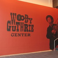 The foyer of the Woody Guthrie Center