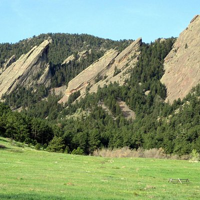Boulder's Famous Flatirons at Trail-head