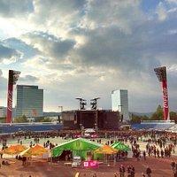 the stadium (concert setup)