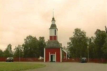 Saami church in summertime