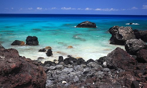 Lava and white sand