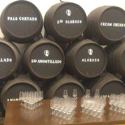 Postal con los tipos de vinos de la bodega