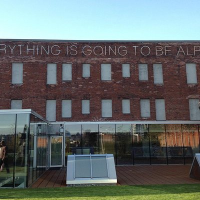 """""""Everything Is Going To Be Alright"""", artist Martin Creed. Sculpture Garden, Rennie Collection"""