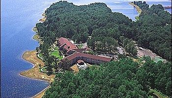 aerial view of the Lodge at DeGray Lake Resort State Park