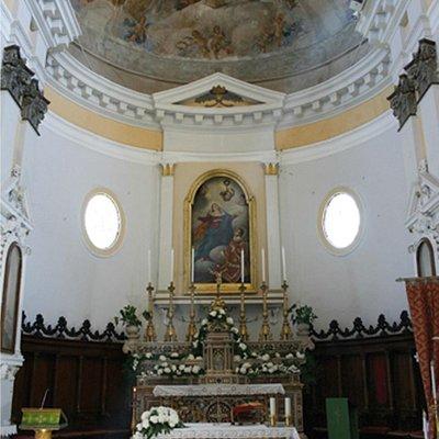 The interior of San Lorenzo, Picinisco
