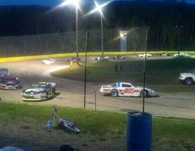 spin out at ARCA Race