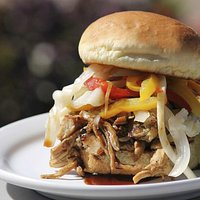 """Dr. Field Goods """"New Mexican"""" Pulled Pork Sandwich"""
