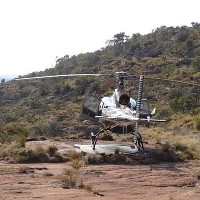 The helicopter that takes you to top of mountain