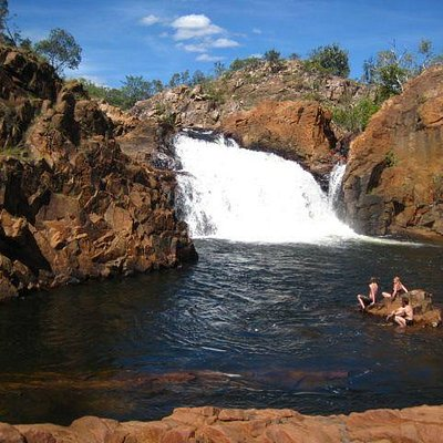 The favourite swimming spot of Edith Falls top pool