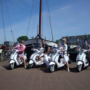 Een heerlijke dag op de scooter in Amsterdam. deze foto was voor het scheepsvaartmuseum.
