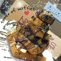 tower of waffless....bliss!!