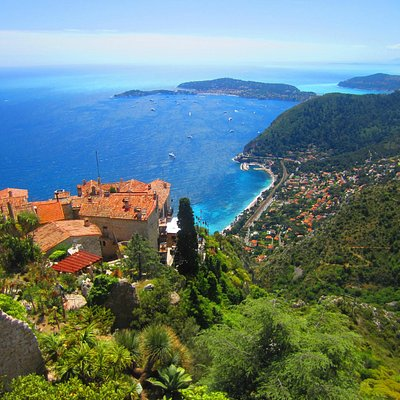 The view from the Jardin Exotique d'Eze at the top of Eze Village