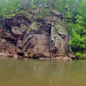 Cliffs along the Dan River