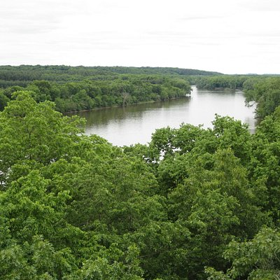 View from the lookout area above the Rock River